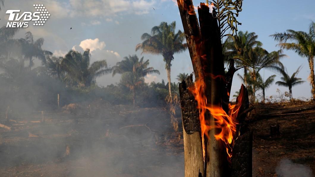 圖/達志影像路透社 地球之肺遭大火吞噬 亞馬遜濃煙連太空都看得見