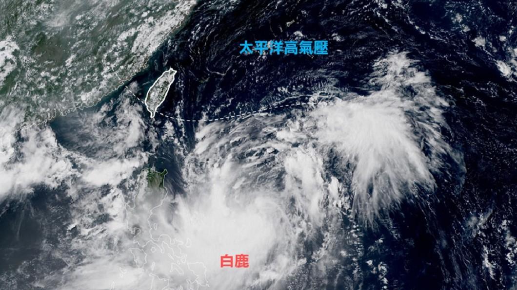 衛星雲圖。圖/翻攝自台灣颱風論壇|天氣特急臉書