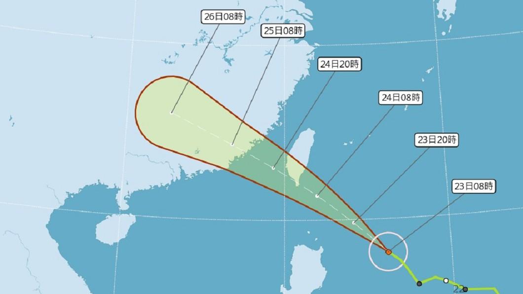 圖/中央氣象局 颱風白鹿逼近 經濟部災害應變小組二級開設