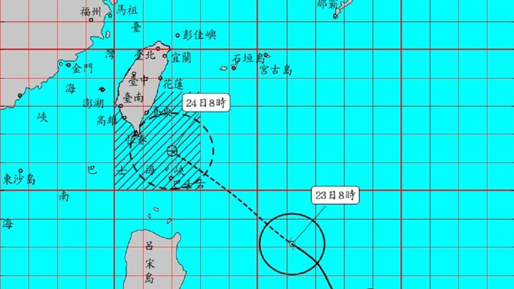 圖/中央氣象局 颱風白鹿路徑南偏 預計下午發陸上警報