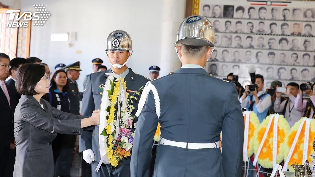圖/中央社 總統提八二三精神:守護中華民國台灣一步都不讓