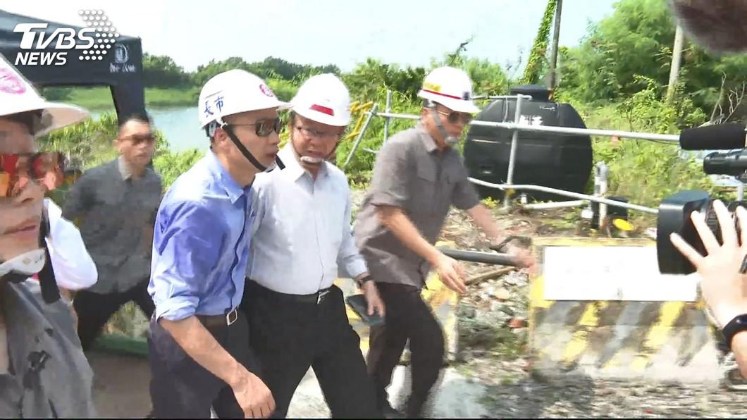 圖/TVBS 周末留高雄防颱 韓國瑜取消外地國政行程