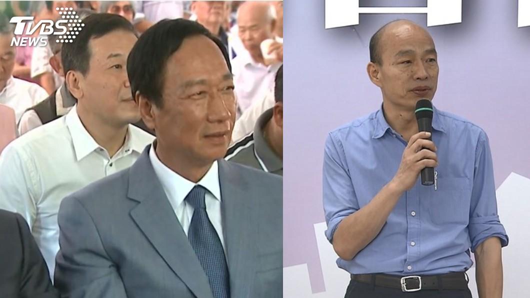圖/TVBS 郭台銘參選國民黨分裂危機 連戰提「4步」疾呼韓郭合一