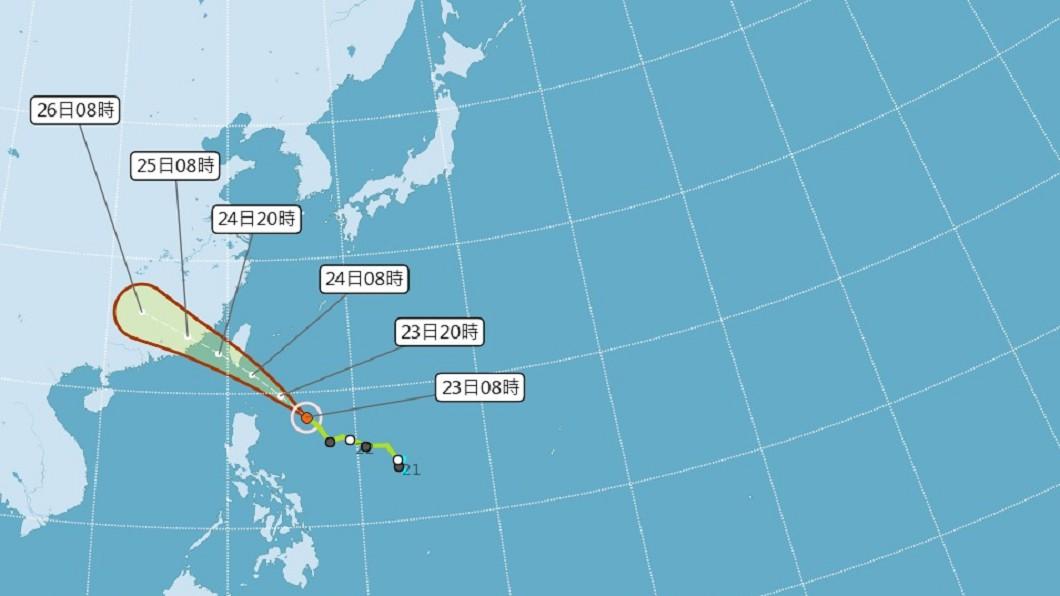 圖/中央氣象局 快訊/外圍環流影響 北市明下午恐有7至8級強風