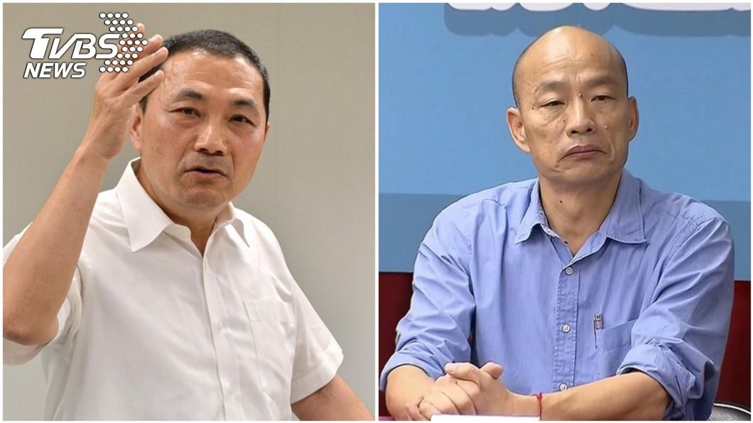 圖/中央社、TVBS資料照 核四議題不同調? 他爆:韓國瑜侯友宜「瑜亮情結」內幕