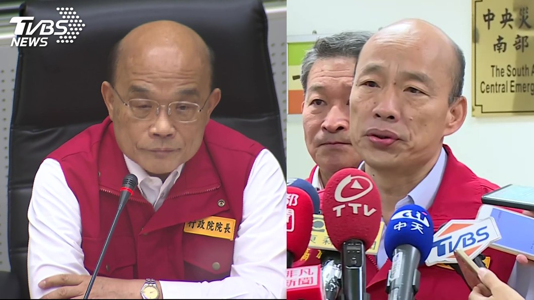 行政院長蘇貞昌、高雄市長韓國瑜。圖/TVBS