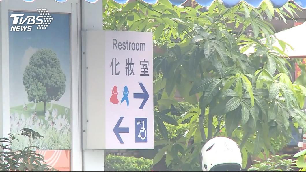 (示意圖/TVBS資料畫面) 加油站上廁所突「全身發寒」 抬頭一看驚呆
