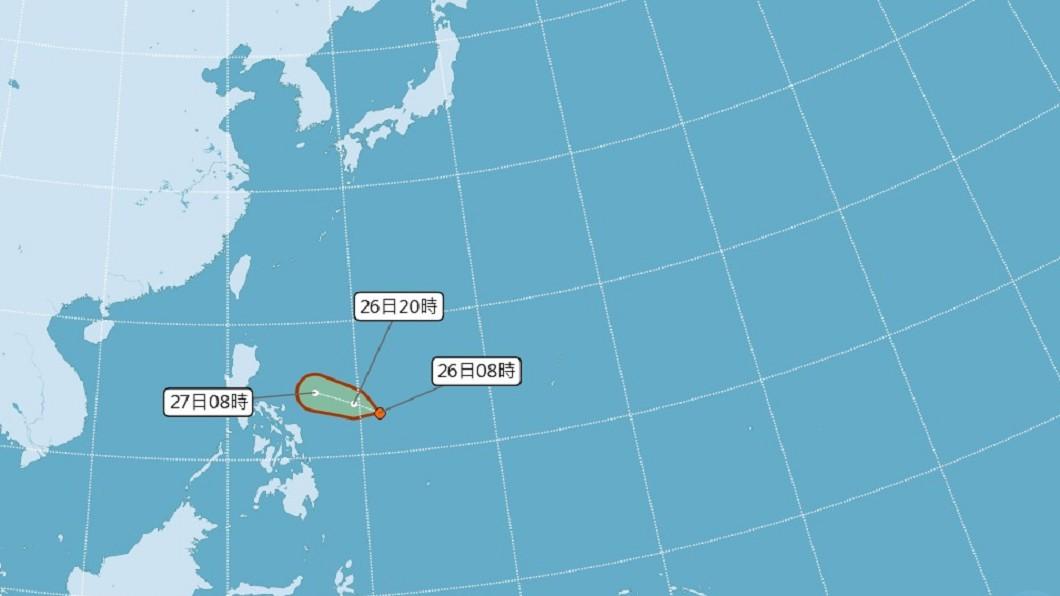 圖/中央氣象局 菲東海面熱帶擾動發展中 專家:恐成第12號颱風