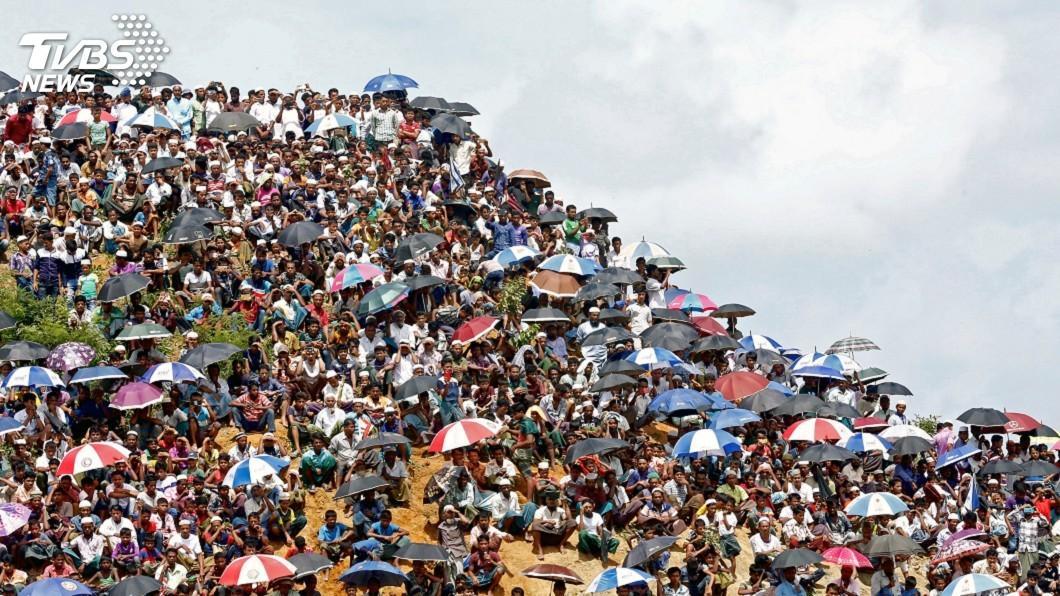 圖/達志影像路透社 洛興雅難民流亡2年 集會要求緬甸恢復公民權