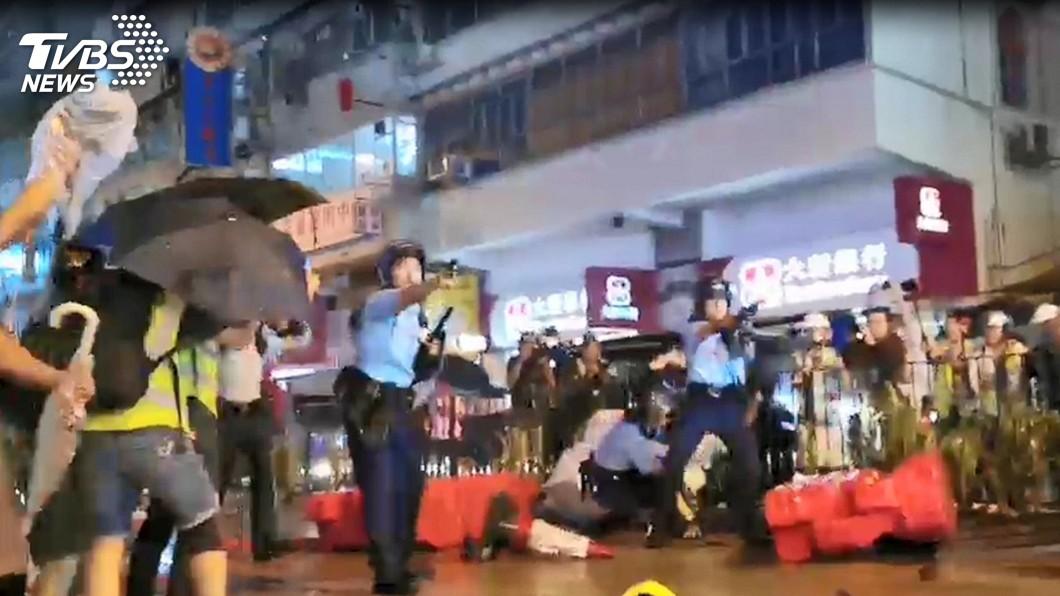 圖/中央社 東方之珠光彩不再 香港深陷經濟與存亡危機