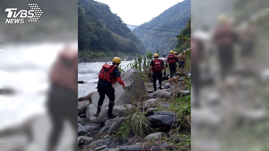 圖/TVBS 父子烏來捕魚6歲男童疑落水失蹤 警消持續搜救
