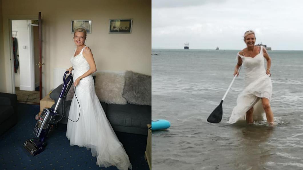 圖/翻攝自臉書粉專「The life and times of a wedding dress」 超狂!天天穿破萬婚紗過生活 她曝:要穿到「回本」