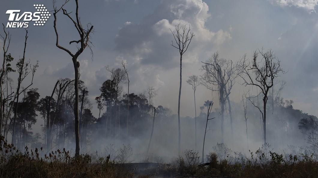 圖/達志影像美聯社 巴西總統派兵救火 CNN記者空中觀察卻找無人
