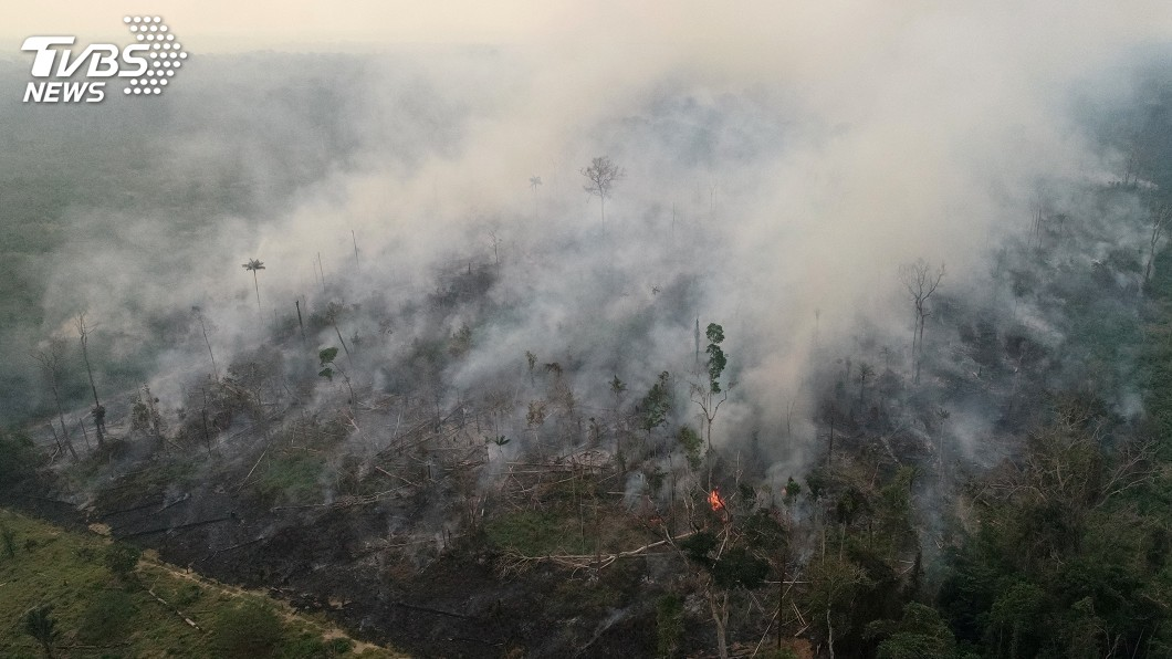 圖/達志影像路透社 G7金援亞馬遜滅火 巴西總統質疑背後意圖