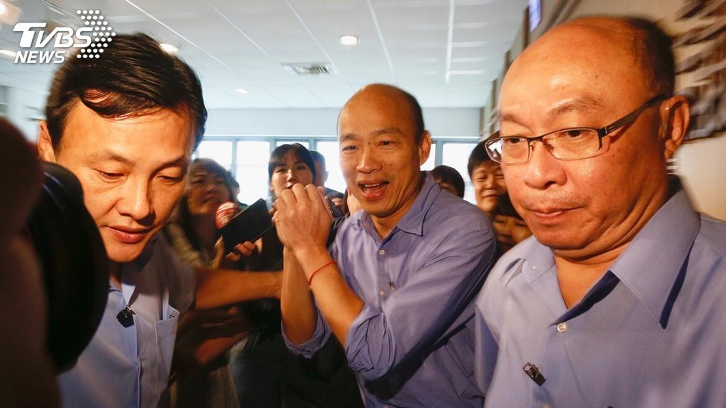 圖/中央社 韓陣營:郭柯王結盟假議題 黨員會跟黨站在一起