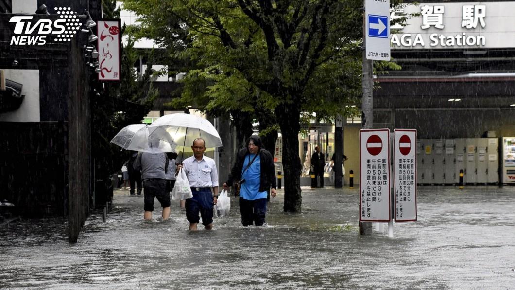 圖/達志影像美聯社 日本九州大雨滂沱 當局發5級警報籲民眾自保