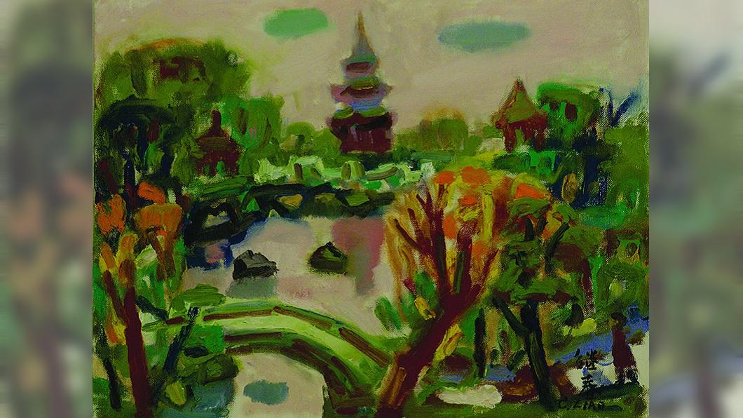 台灣畫家廖繼春是順天美術館第一位收藏的藝術家,他的「公園一隅」筆觸率真自然,畫作尺幅雖小,仍充分展現景色的迷人與熱情的生命力。 圖/國美館提供 橫跨半世紀台灣藝術史 順天美術館600件藏品返鄉