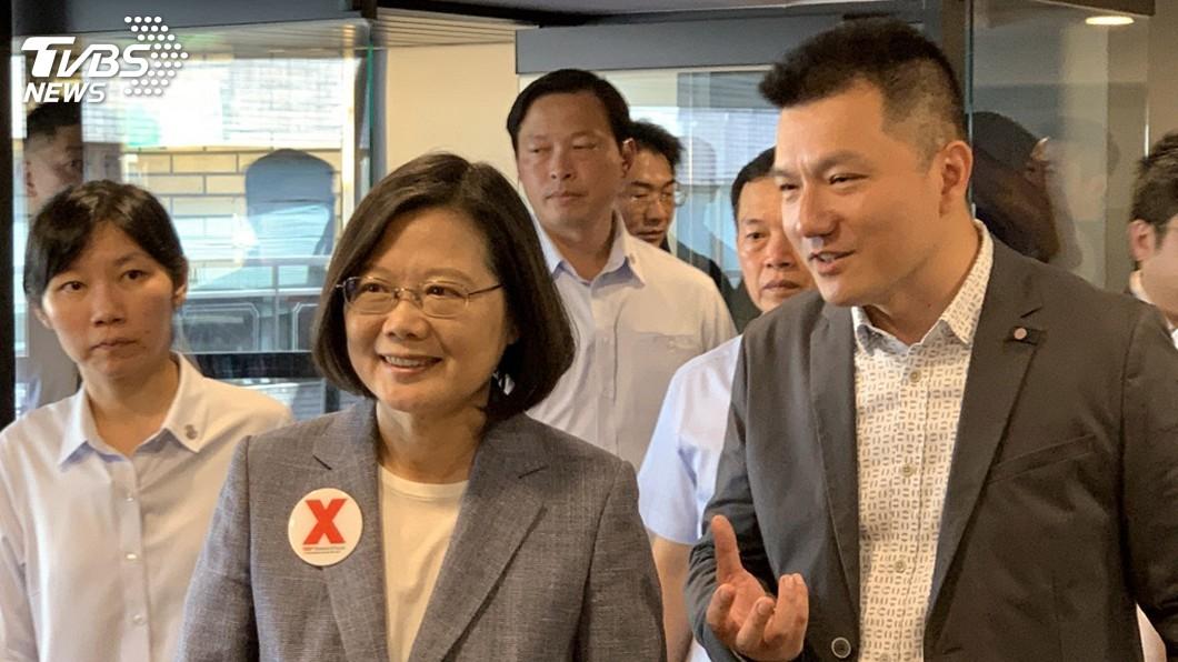 圖/中央社 蔡總統:相互說服與傳達 是民主社會最重要訓練