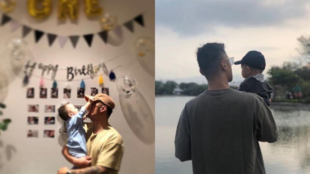 余文樂和王棠云在2017年結婚。圖/翻攝自余文樂IG 余文樂曬兒子「漆黑正面照」 調亮後真面目曝光了
