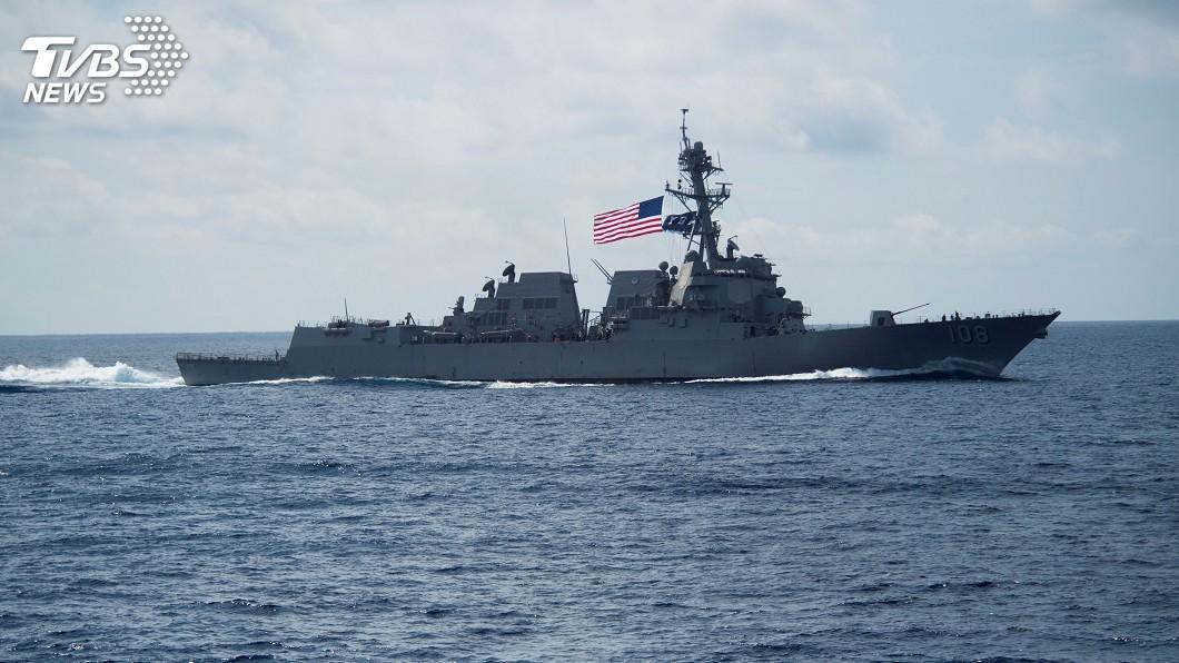 圖/達志影像路透社 美艦駛近南海永暑礁美濟礁 解放軍海空警告驅離