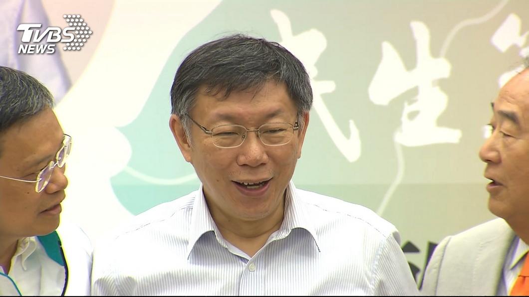 圖/TVBS 傳企業主勸選2024? 柯文哲:吃飯什麼都可能談到