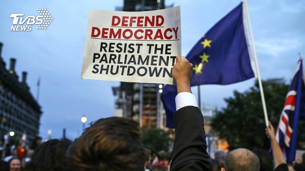 圖/達志影像美聯社 為硬脫歐出奧步? 英國首相強生策動國會休會