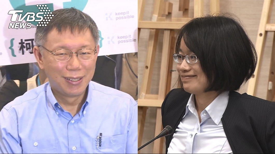 台北市長柯文哲(左)、前北農總經理吳音寧(右)。圖/TVBS 不忍了!吳音寧狠拋7項「台灣價值」 酸爆柯文哲