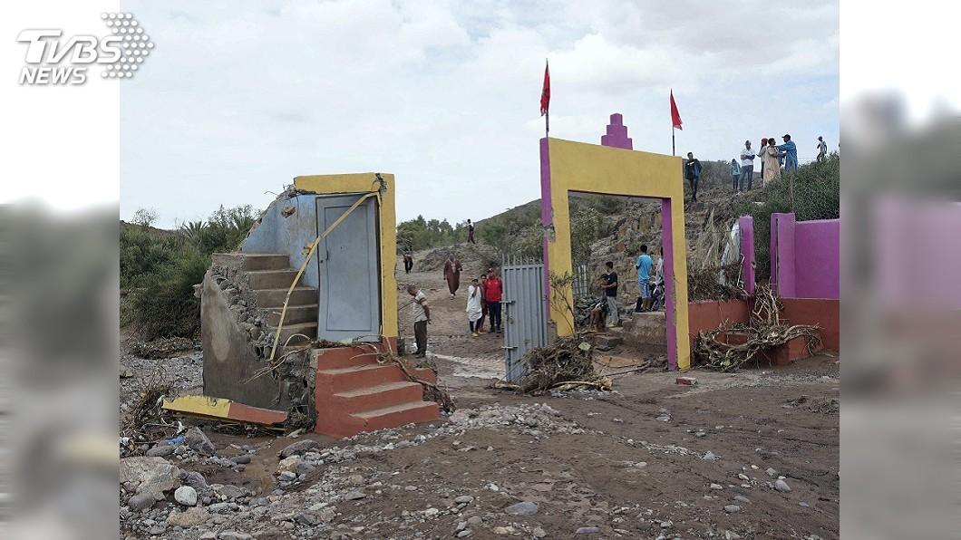 圖/達志影像美聯社 摩洛哥大雨河水暴漲 水淹村莊至少7死