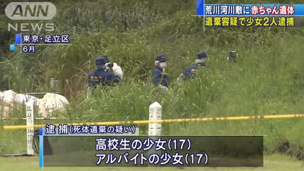 2個17歲少女把男嬰丟到草叢後離去。圖/翻攝自ANNnewsCH