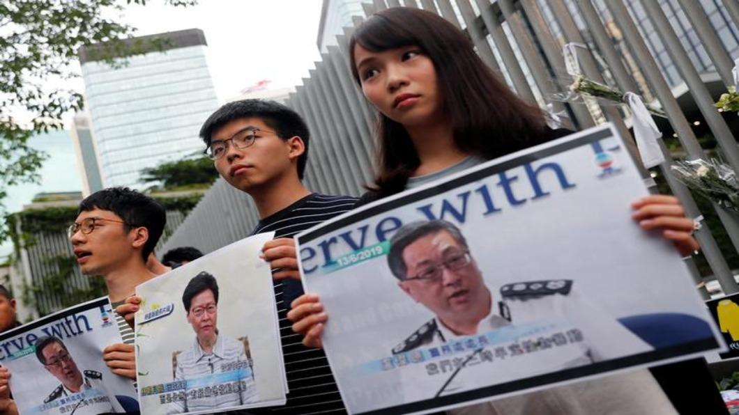 圖/達志影像路透 傳北京設十一死線 港警今抓7人 黃之鋒交保
