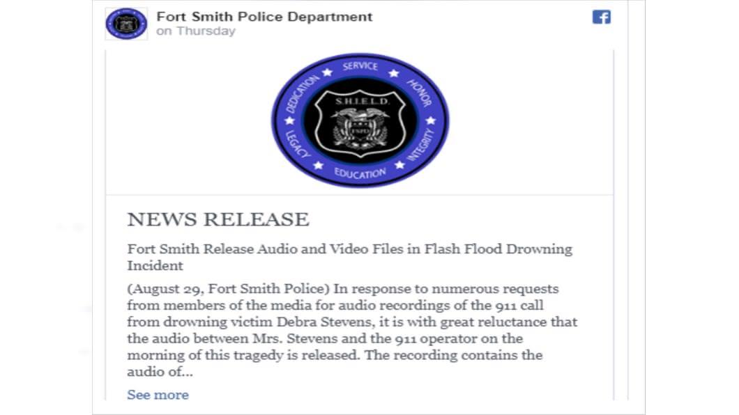 圖/翻攝自Fort Smith Police Department臉書
