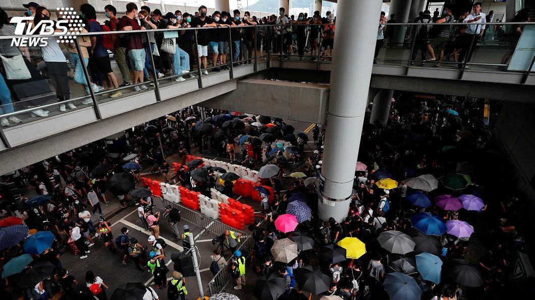圖/達志影像路透社 反送中再發起「三罷」 香港機場籲旅客預留充裕時間