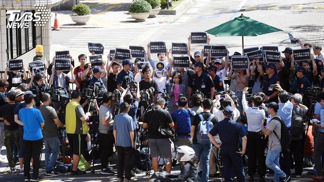 圖/中央社 在台就學港生反送中被捕 學團盼協助保留學籍