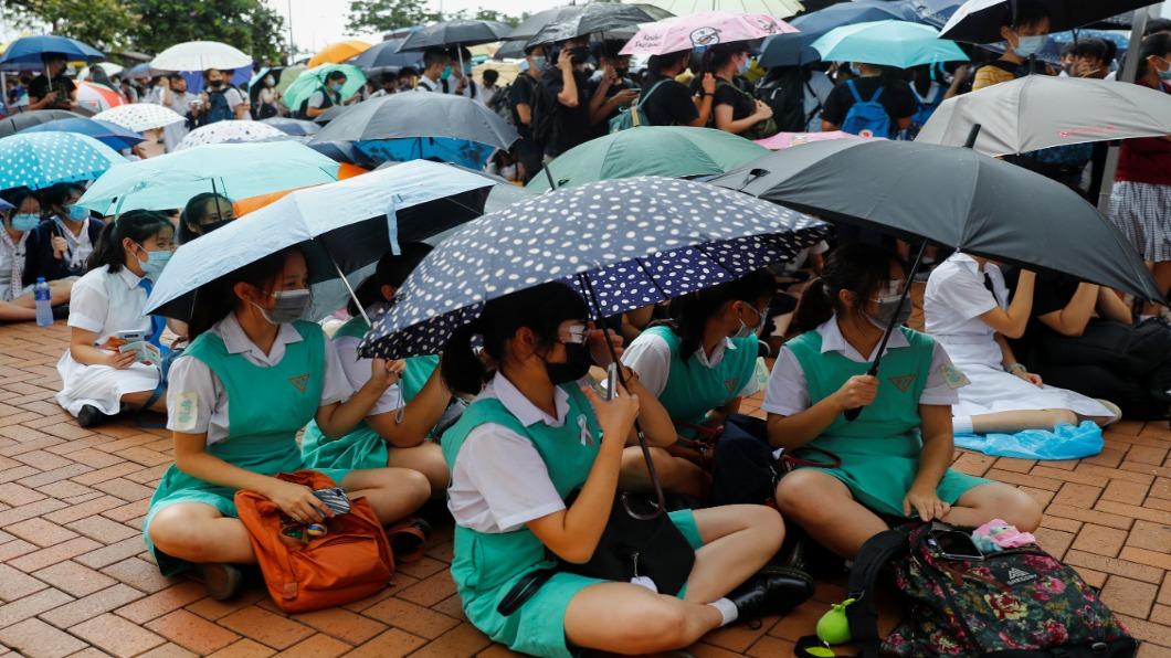 圖/達志影像路透 香港三罷多地點燃 開學日百校罷課.醫護罷工