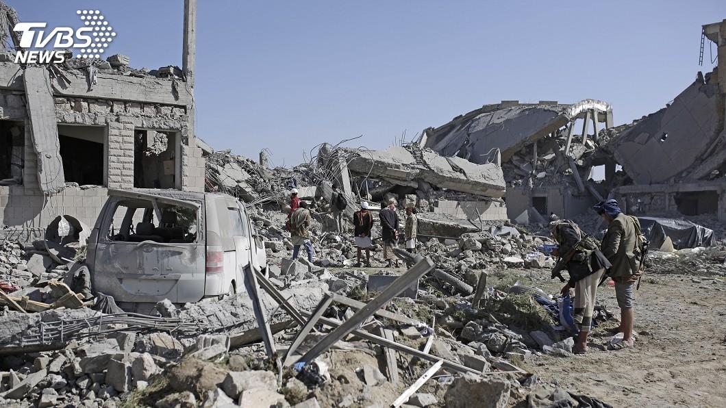 圖/達志影像美聯社 聯軍空襲葉門叛軍監獄 估上百人枉死