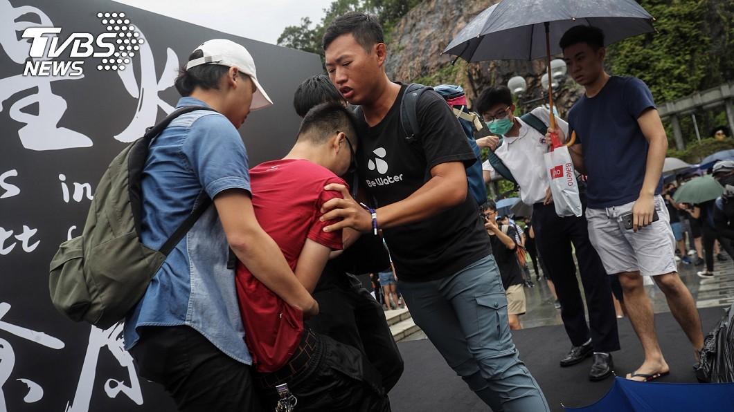 「反送中」運動讓港人想移民台灣。 圖/中央社 「反送中」讓港人受夠了! 申請居留台灣多3成