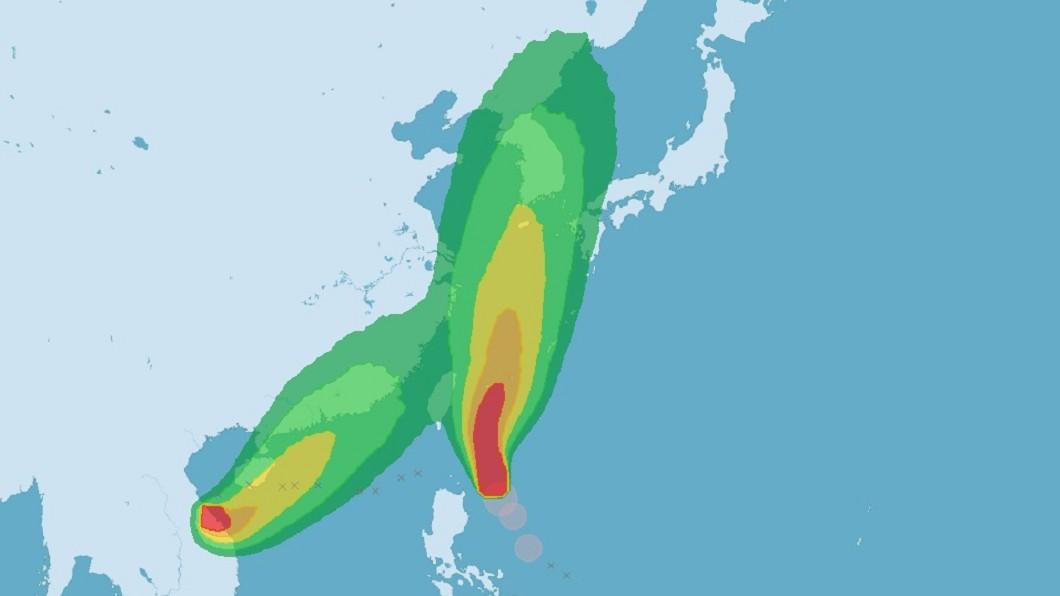 圖/中央氣象局 颱風劍魚凌晨形成 氣象局:玲玲發海警機率低