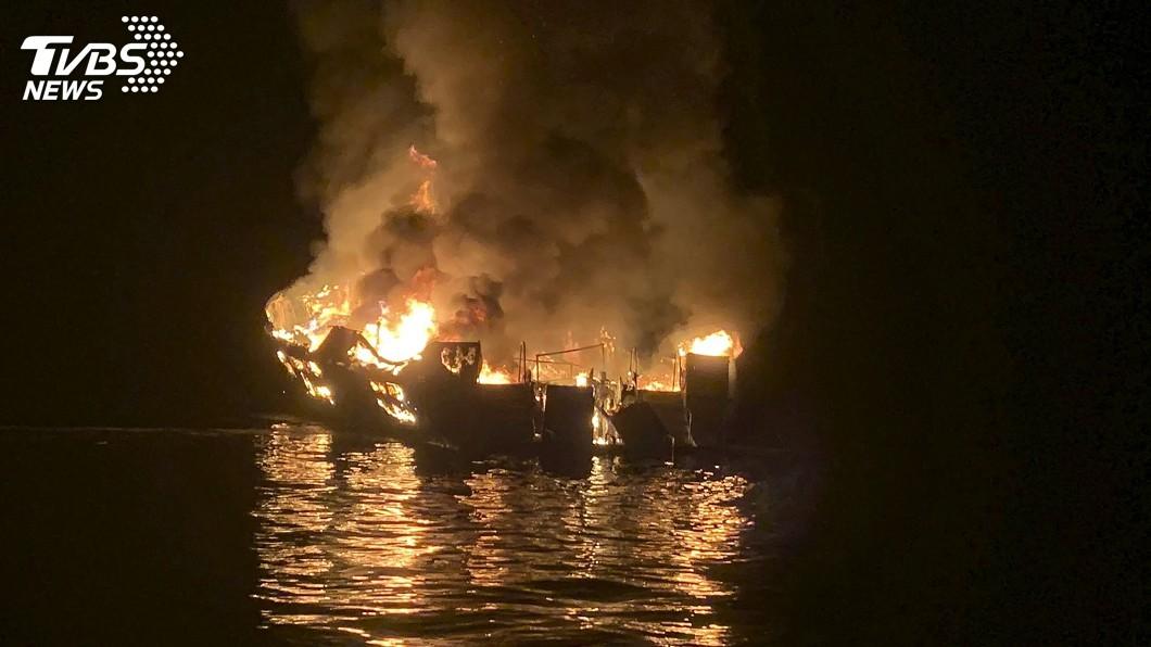 圖/達志影像美聯社 南加州外海潛水船失火沈沒 33人下落不明