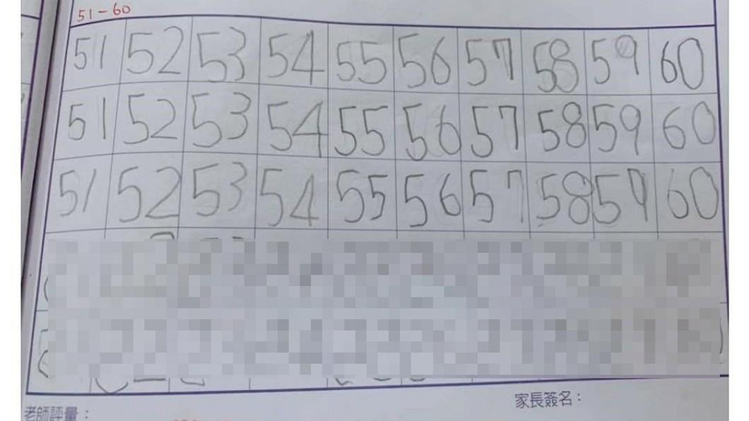 圖/翻攝自臉書爆廢公社 女兒練寫數字「鏡像顛倒」 地方媽媽:我家也是...