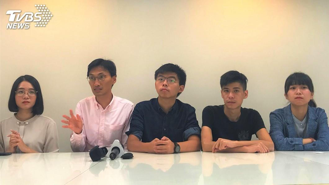 圖/中央社 黃之鋒:月底辦聲援香港活動 盼台灣民眾支持