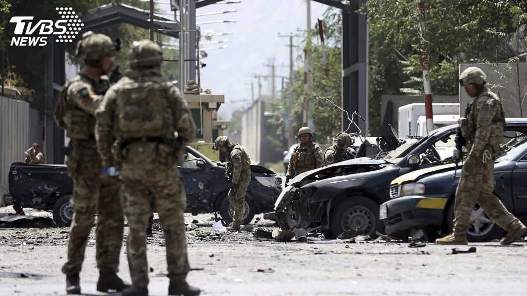 圖/達志影像美聯社 阿富汗首都自殺炸彈攻擊 塔利班宣稱犯案