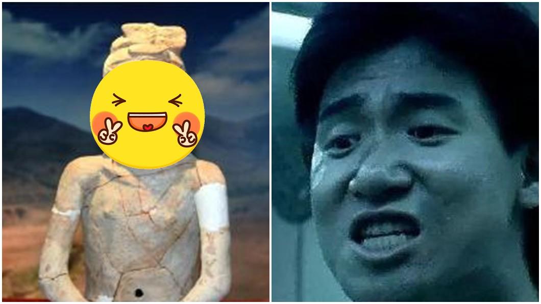 5300年前的陶俑人像神似張學友。圖/翻攝自中國新聞網微博 撞臉張學友! 5300年前陶俑「中華祖神」曝光網驚呆