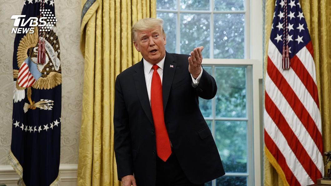 圖/達志影像美聯社 川普自己畫颶風路徑圖! 白宮竟開賣麥克筆
