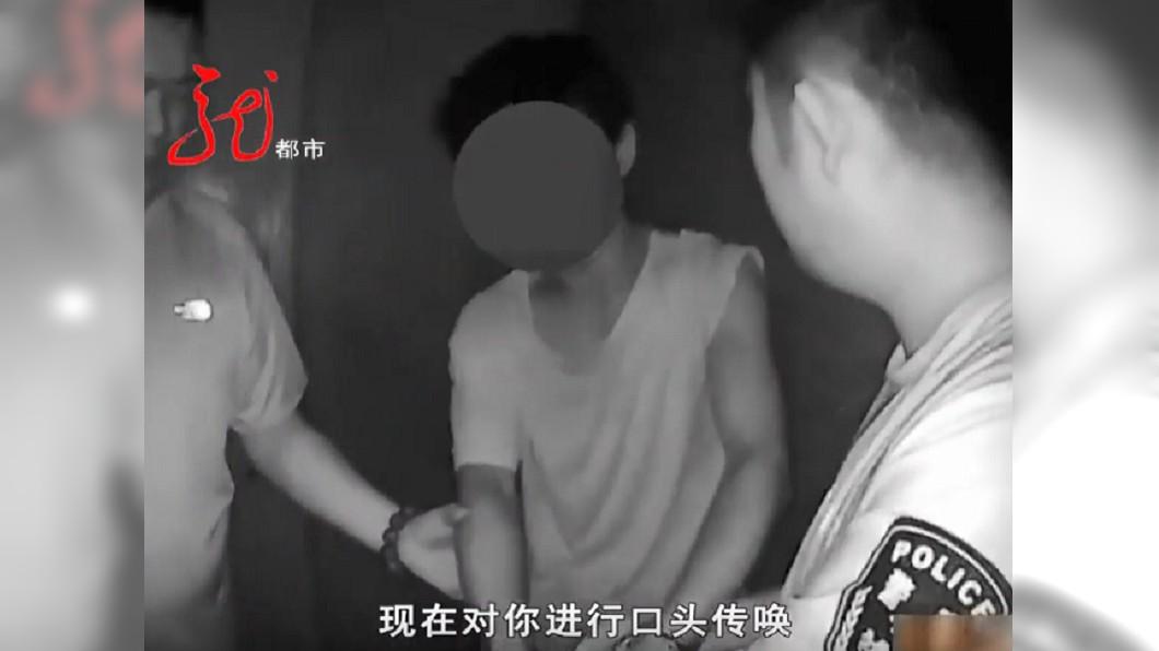 惡劣男子終於被逮捕。圖/翻攝自新聞夜航