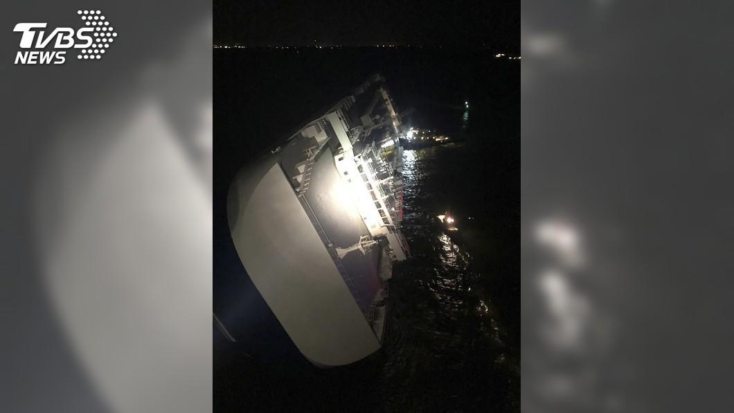 圖/達志影像美聯社 現代汽車運輸船美國海域傾覆 4名南韓船員失蹤