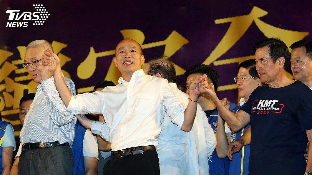 高雄市長韓國瑜(中)8日在新北造勢。圖/中央社 「韓粉再爽只剩4個月」 董智森嗆:你們會害韓國瑜落選