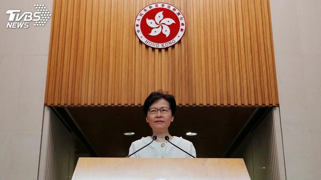 圖/達志影像路透社 美提人權法案 林鄭:他國不應干預香港內部事務