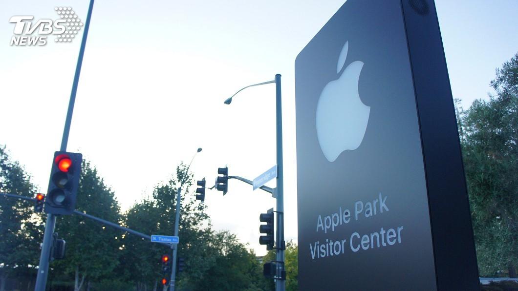 圖/中央社 蘋果發表會場外直擊 街上沒海報保持低調