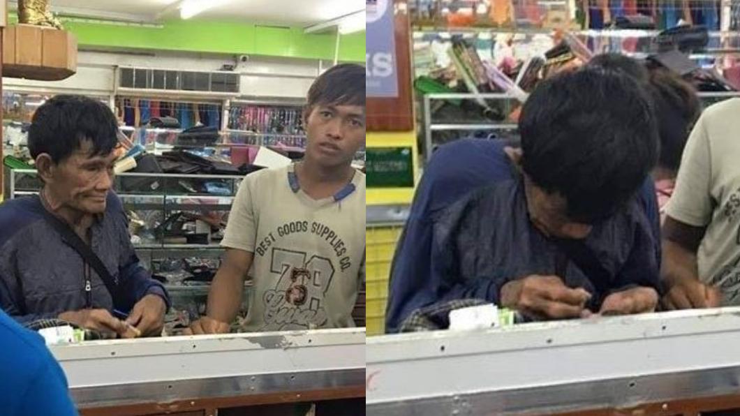 圖/翻攝自Philippine trends and news臉書 為替兒買鞋!貧父掏盒低頭數「多年存錢」 惹哭網友
