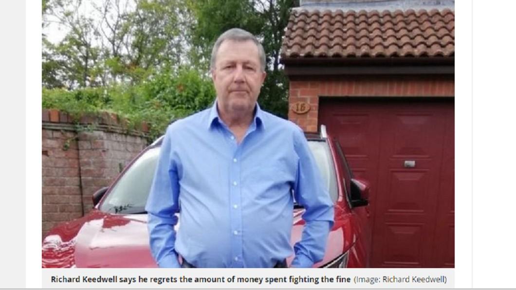 英國一名退休工程師為了超速罰單燒光百萬退休金打官司。 圖/翻攝自鏡報 收4千超速罰單 他上訴3年燒光百萬退休金
